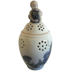Royal Copenhagen Potpourri Lidded Pot with Boy/Putti on Top #790/2303