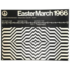 1966 Nuclear Disarmament March Poster from London