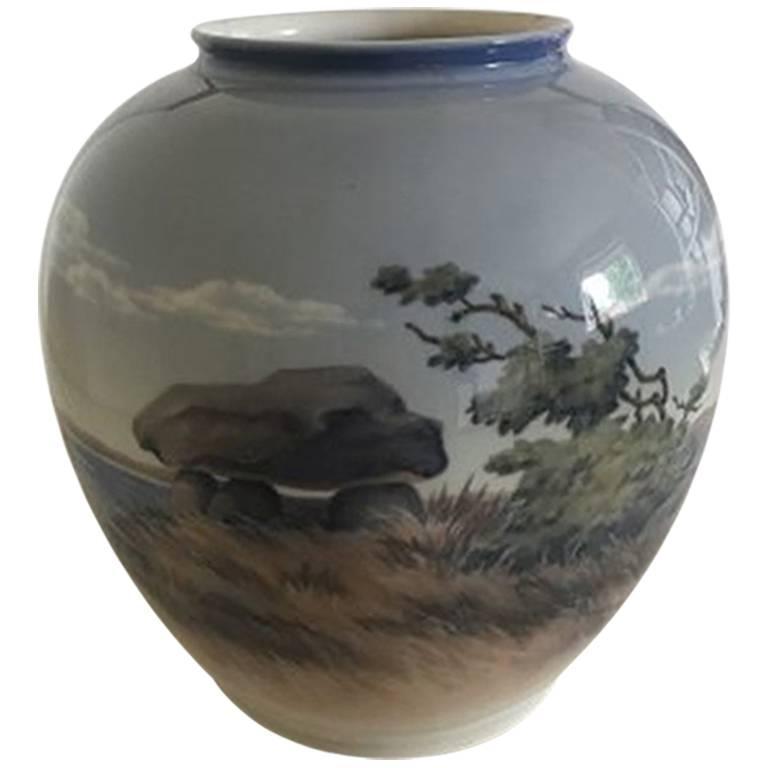 Royal Copenhagen Vase with Landscape Motif #2316/35A