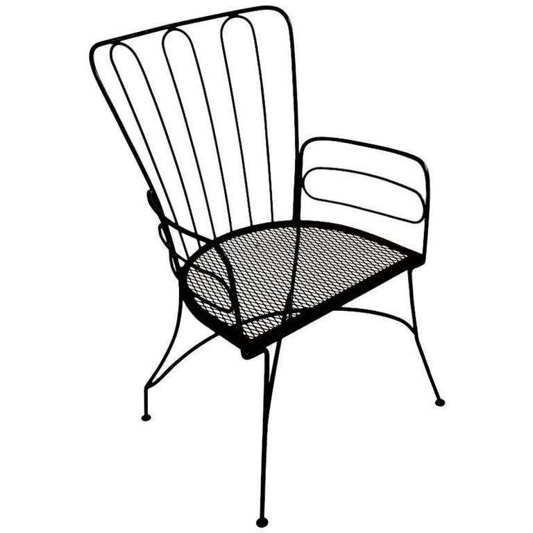 Wrought Iron Armchair after Weinberg