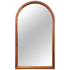Large Danish Arched Top Teak Mirror by Jesper International