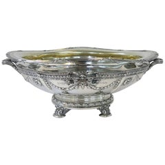 Large Oval Antique Sterling Silver Centrepiece by Gorham