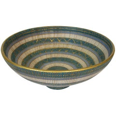 1960s Seta Series Footed Ceramic Bowl by Bitossi, Italy