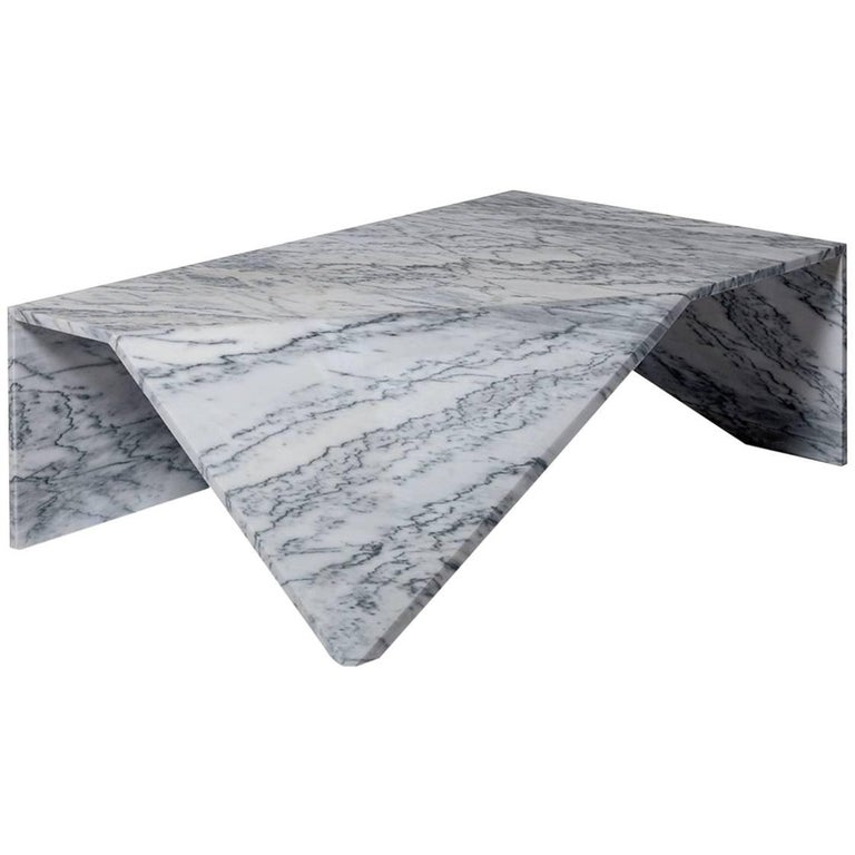 Lupi Coffee Table, Contemporary Marble Lounge Table