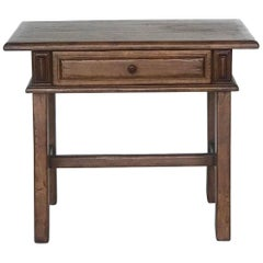 Custom Walnut Side Table or Nightstand with Drawer