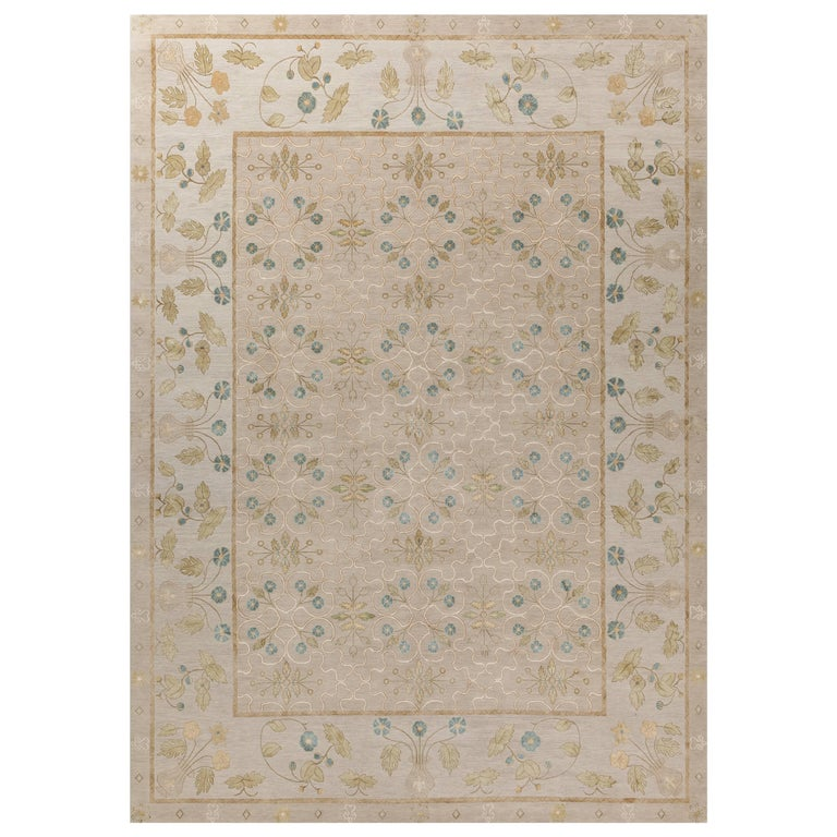 'Papillon, Amethyst' Hand-Knotted Tibetan Rug Made In