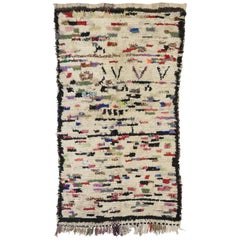 Vintage Berber Moroccan Azilal Rug with Modern Tribal Style