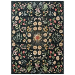 'Flora' Hand-Knotted Tibetan Rug Made in Nepal by New Moon Rugs