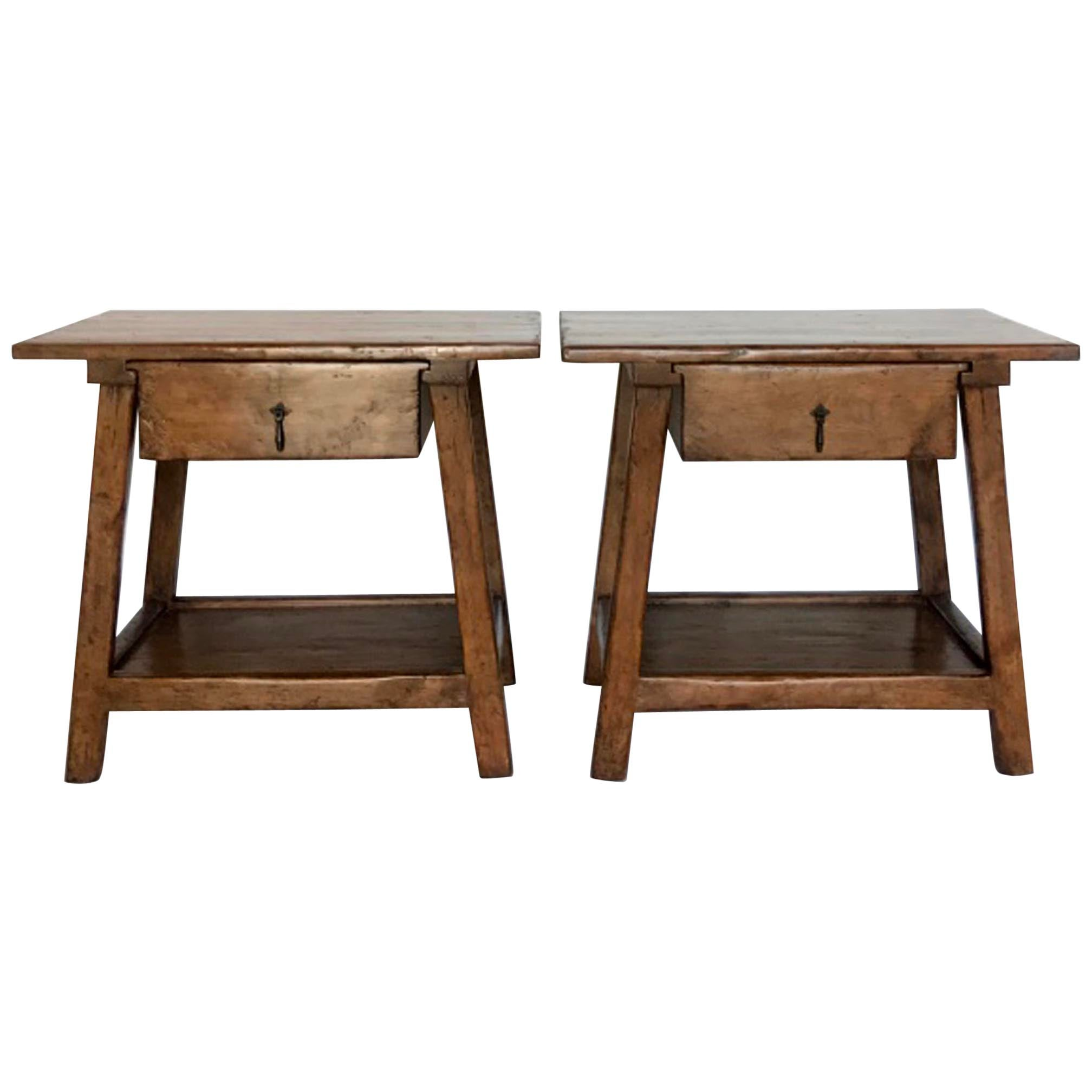 Custom Nightstands or Side Tables with Drawer