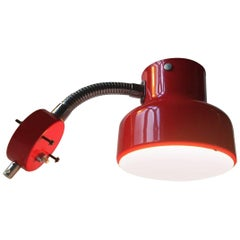 Vintage Swedish Red Bumling Wall Lamp by Anders Pehrson for Ateljé Lyktan, 1970s
