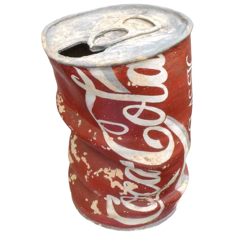 Huge Handmade Ceramic Coca Cola Can Sculpture For Sale