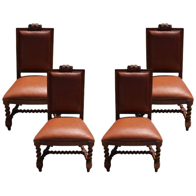 Ralph Lauren Set of Four Baroque Style Side Chairs