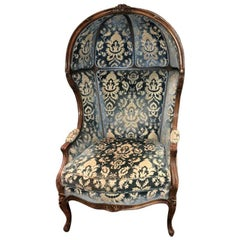 Vintage Louis XV Style Walnut Porter's Chair