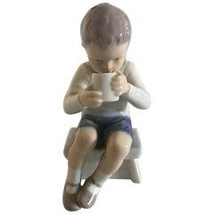 Bing & Grøndahl Figurine Victor Boy Drinking #1713