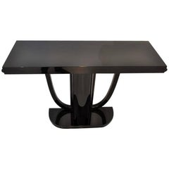 High Gloss Black Art Deco Design Console