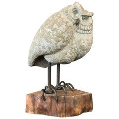 Owl Sculpture by Midcentury California Artist Lou Rankin