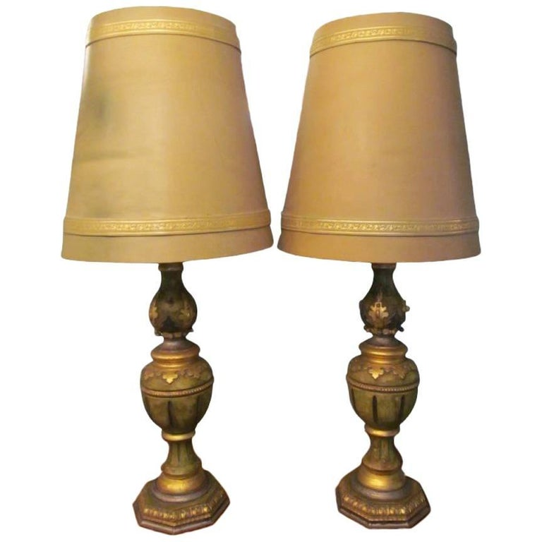 Two Table Lamps in Baroque Style from circa 1970
