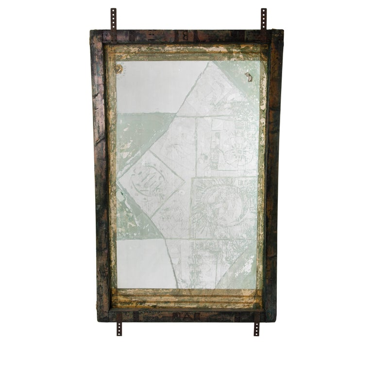 Paapje Screen print Frame Wooden Rose 2 as Room divider or ...
