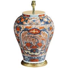 18th Century Japanese Imari Baluster Vase Mounted as a Lamp