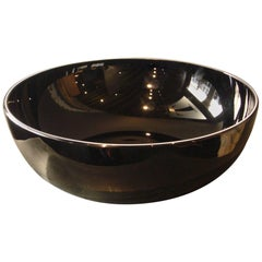 Vintage Murano Venezia Handblown Bowl Vase Incamiciato Jacketed Vistosi