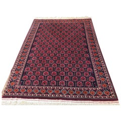 Antique 20th Century Turkmen Beshir Afghan Carpet
