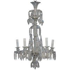 Old Bohemian Chandelier Chic Design and Elegant Crystal 1950