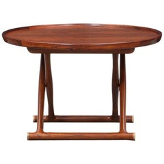 1950s Brown Rosewood Occasional Table by Mogens Lassen