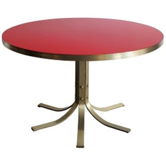 """2000s Dimore Studio Italian Glass and Brass Circle Dining Table Model """"055"""""""