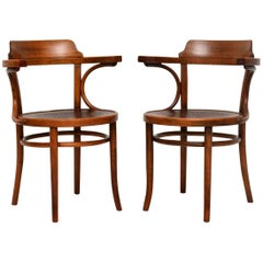 Pair of Antique Bentwood Thonet Armchairs