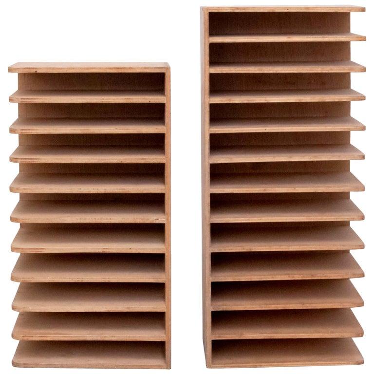 Pair of Midcentury Wood Shelves 1970s