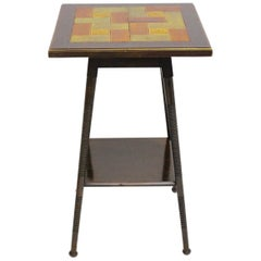 Art Deco Side Table, circa 1930 with Ceramic Tiles Used by Adolf Loos