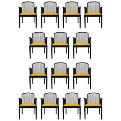 "Set of 14 Yellow Davis Allen ""Andover"" Chairs for Stendig"