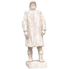 Plaster Model of a Sailor by Belgian Sculptor Victor Demanet