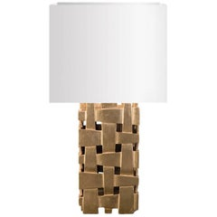 Cruise Table Lamp with Gold Paint