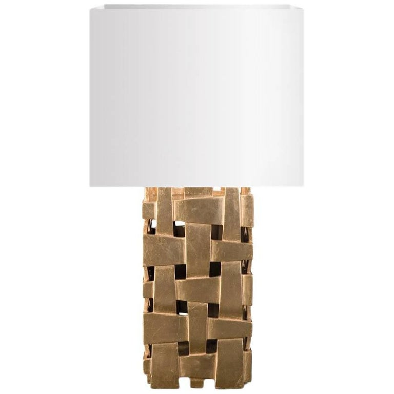 Cruise Table Lamp with Gold Paint For Sale
