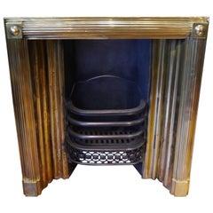 Original antique Georgian Brass Insert fireplace