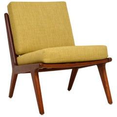 1960s Danish Teak Vintage Slipper Chair