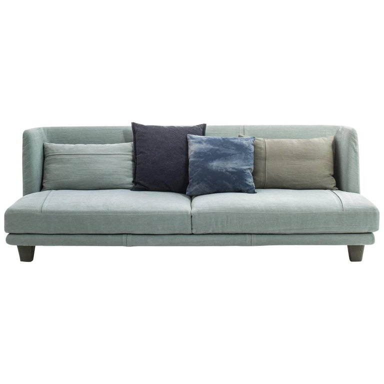 """Gimme More"" Three-Seat Fabric Sofa with Fiber or Goose by Moroso for Diesel"