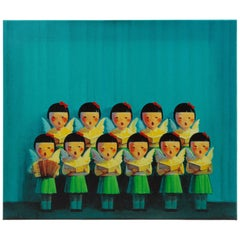 Liu Ye Choir Chinese Silkscreen on Canvas