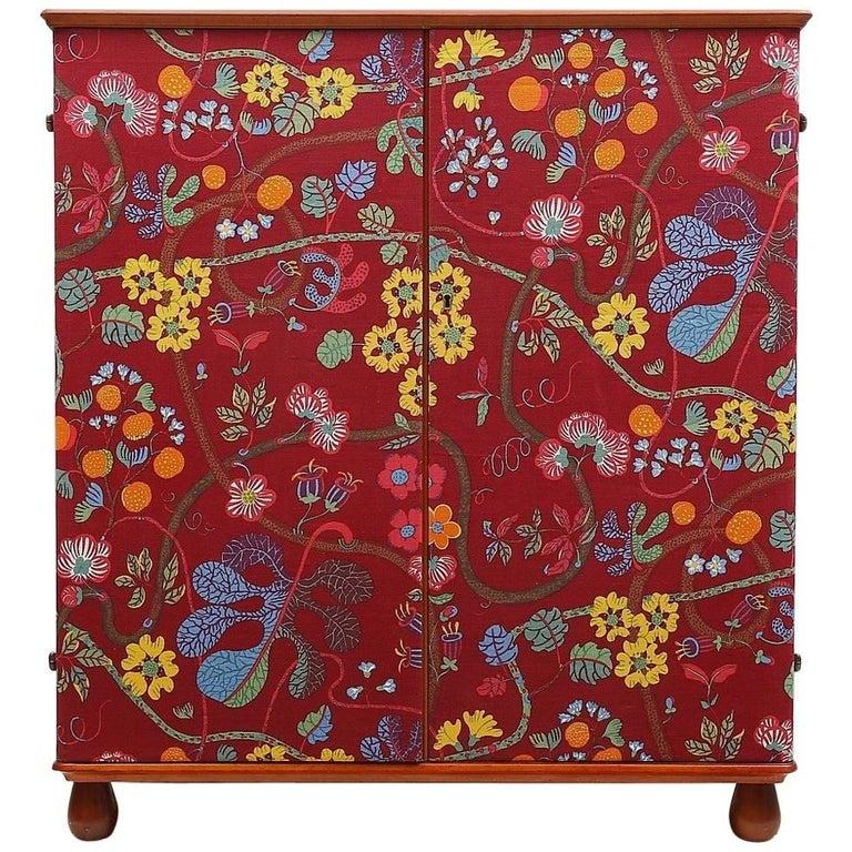"""Josef Frank """"Baranquilla"""" Upholstered Cabinet, Sweden, 1943-1945 For Sale"""