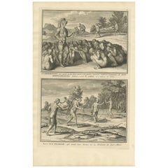 Antique Print of Widows in Florida by B. Picart, 1721