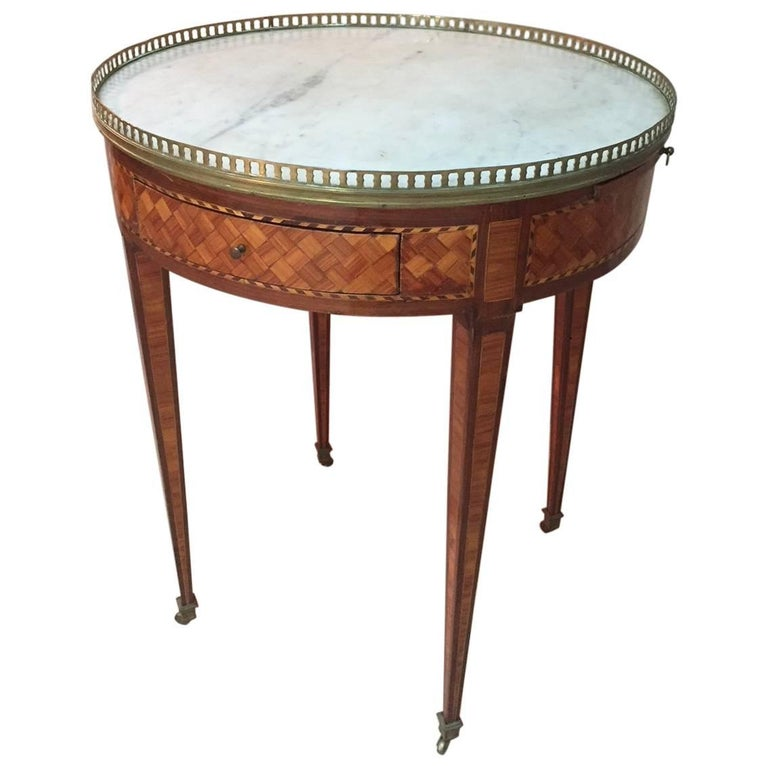 Late 18th Century Louis XVI French Marquetry Bouillotte Table