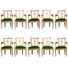 Good Set of Ten Louis XVI Style Dining Chairs