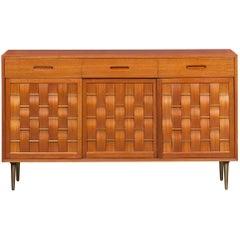 1950s Brown Mahogany Sideboard by Edward Wormley