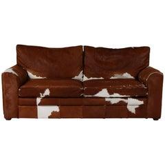 Vintage Cow Hide Sofa