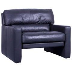 WK Wohnen Designer Armchair Leather Black Couch Modern