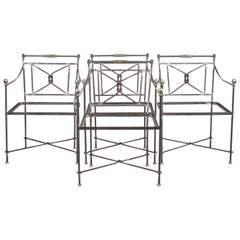 Set of Four Iron Garden Chairs