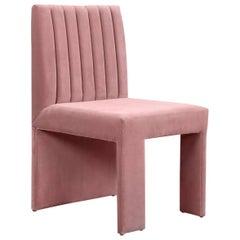 Asymmetric Modern Style St. Martin Dining Chair Lush Velvet Upholstery 7 colors