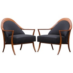 1950s Pair of T. H. Robsjohn-Gibbings Lounge Chairs