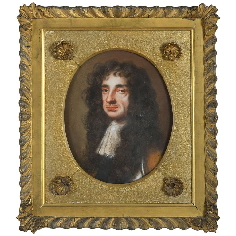 Late 17th Century Pastel Portrait of King Charles II